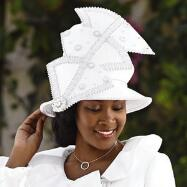 Pirouette Church Hat by Lisa Rene