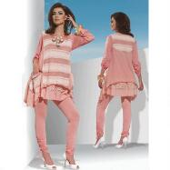3-Pc. Hi-Low Striped Tunic Set by Love the Queen by Donna Vinci