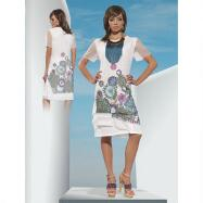 Mesh Floral Dress by Love the Queen by Donna Vinci