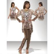 3-Pc. Leopard Print Pant Set by Love the Queen by Donna Vinci