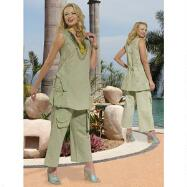 Pocket Style Pant Set by DONNA by Donna Vinci
