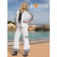 Striped Jumpsuit Set by DONNA by Donna Vinci