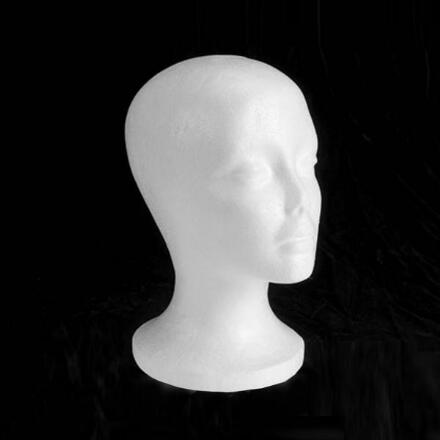 Styrofoam Styling Head with Wide Base