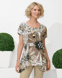 Floral Burnout Knit Tunic