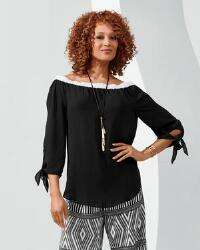 Tipped Touch of Shoulder Top