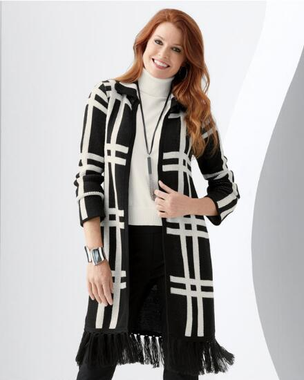 Gridlocked Sweater Coat
