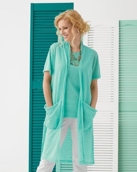 Short-Sleeve Dreamy Long Twinset