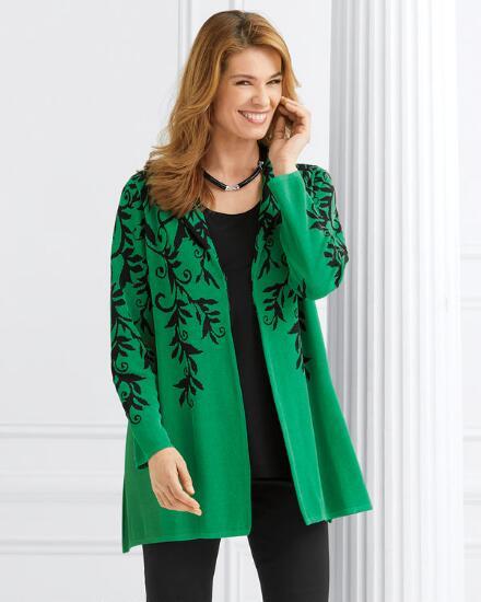 Everlasting Leaves Sweater Coat