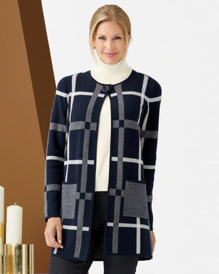 Worthy Windowpane Sweater Coat