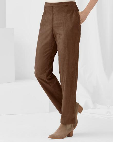 Fabulously Faux Suede Pant