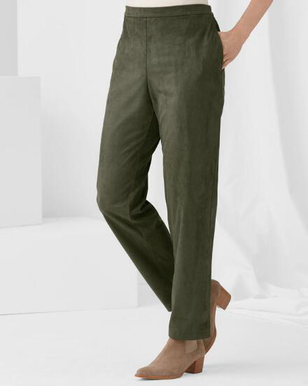 Fabulously Faux Suede Pant - Petite