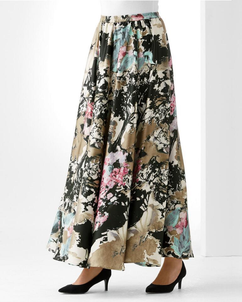 Magnolia Blossom Maxi Skirt