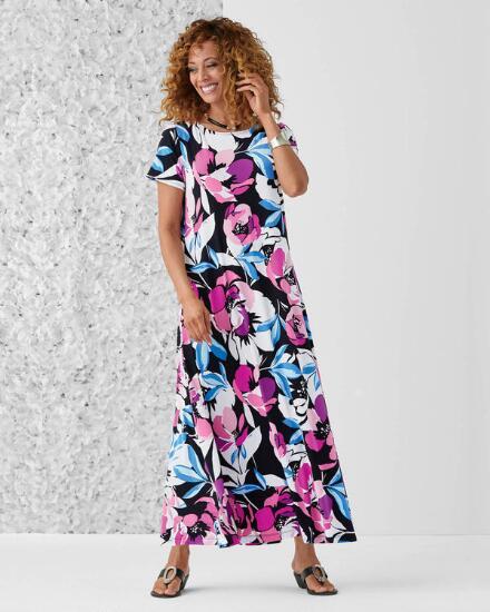 Floral Menagerie Maxi Dress