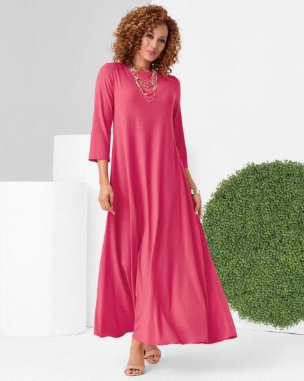 Color Closeout Knockout Knit Maxi Dress