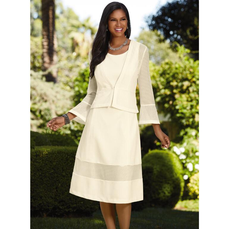 Clearly Lovely Knit Jacket Dress by EY Boutique