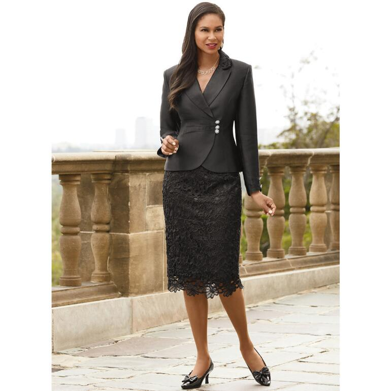 Elegance of Lace Suit by EY Signature