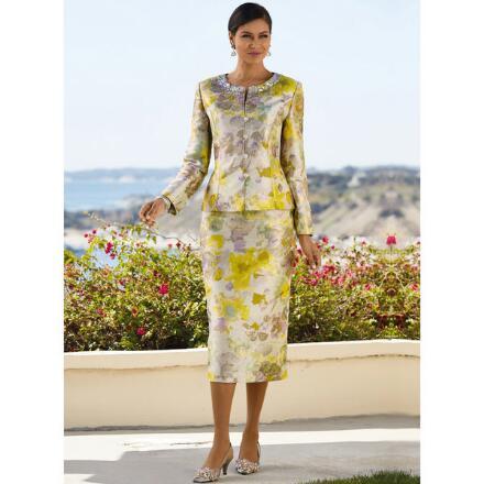 Angelique Jacquard Suit by EY Signature