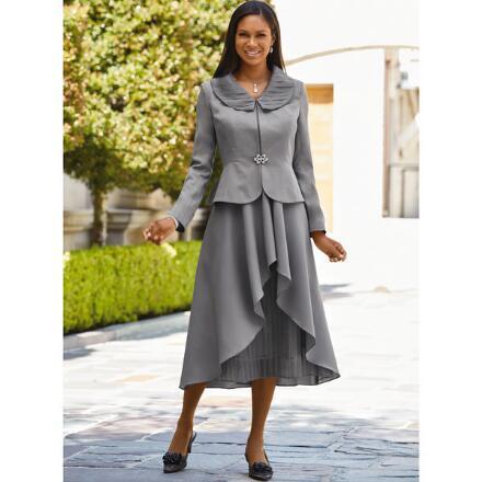 Captivating Cascades Jacket Dress by EY Boutique