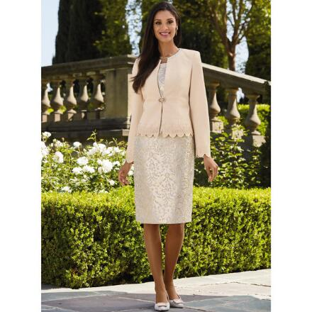 Textural Medley Jacket Dress Suit by EY Boutique