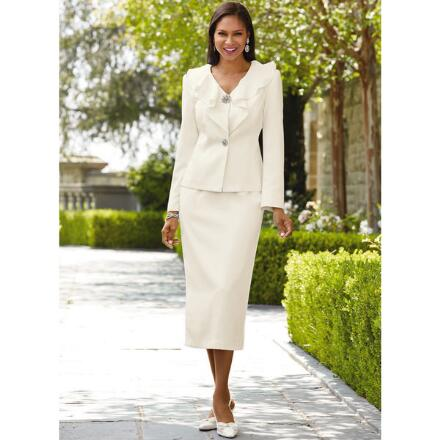 cc1bdc67a28 Touch of Ruffles Suit by EY Signature