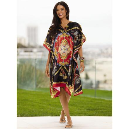 Prestige Print Silky Short Caftan by EY Signature