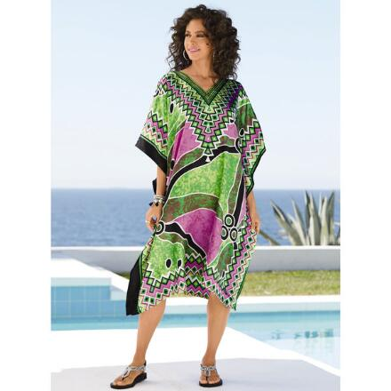 Destination Print Silky Short Caftan by EY Signature