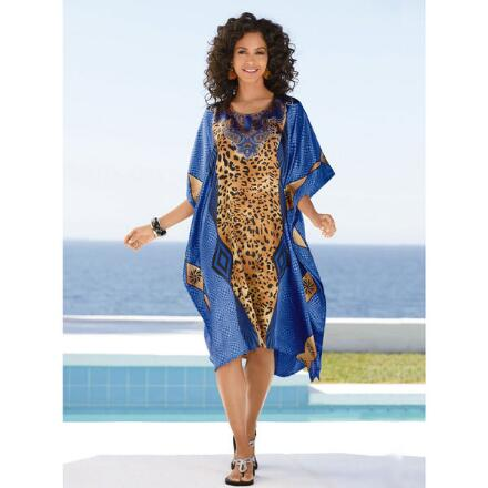 Wild Geo Print Silky Short Caftan by EY Signature