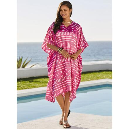 Decoded Print Silky Short Caftan by EY Signature