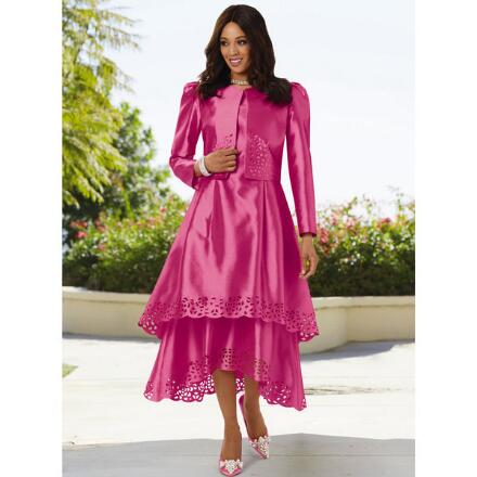Amazing Laserwork Jacket Dress by Dorinda Clark-Cole