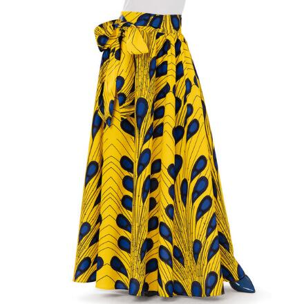 Peacock Print Maxi Skirt by Studio EY