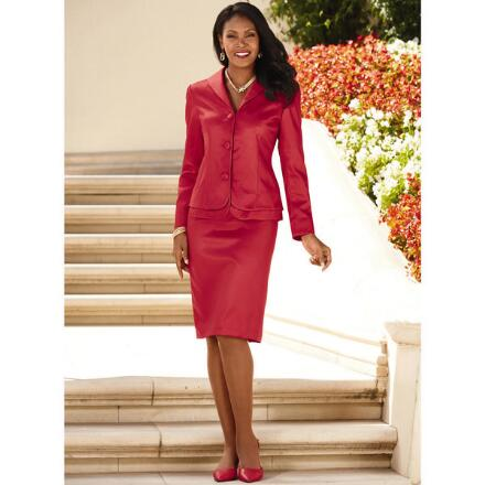 Perfectly Peplum Suit by Exclusive Signature Collection by Especially Yours®