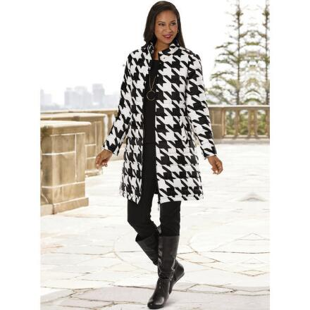 Big On Houndstooth Coat by Studio EY