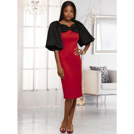 Lavish-Sleeve Knit Dress by EY Boutique