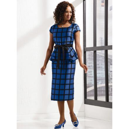 Celebrate in Plaid Dress by EY Boutique