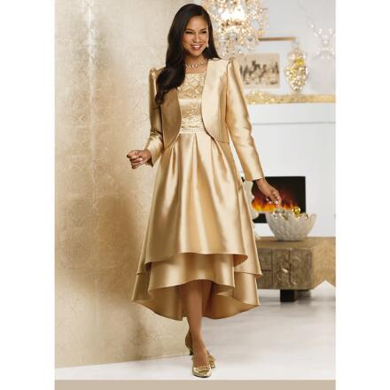 Golden Moments Jacket Dress by Dorinda Clark-Cole