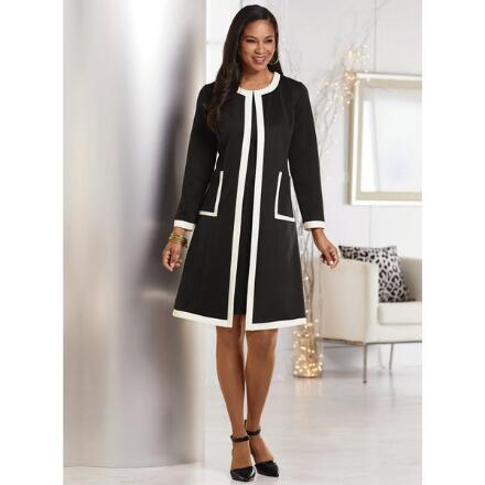 Refined Lines Jacket Dress by Studio EY