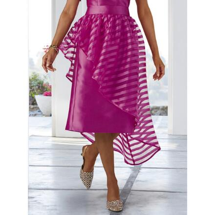 Chic Shadow-Stripe Skirt by Dorinda Clark-Cole