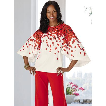 Scattered Blossoms Tunic by Dorinda Clark-Cole