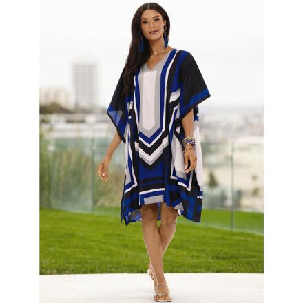 New Deco Print Microfiber Short Caftan by EY Signature