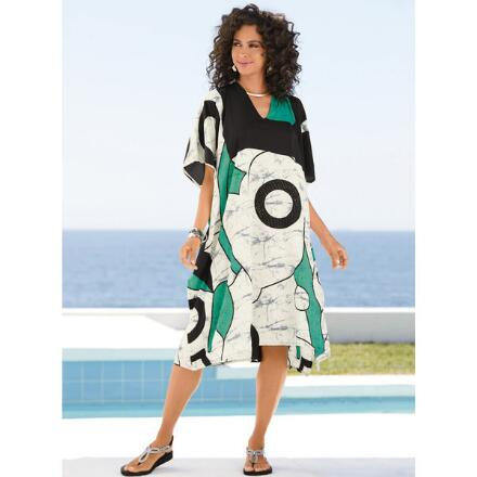 Modern Print Microfiber Short Caftan by EY Signature