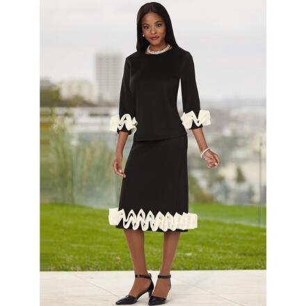 Mad About Contrast Skirt Set by Studio EY