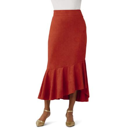 High-Low Sueded Skirt by Studio EY