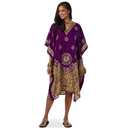 Regality Print Microfiber Short Caftan by EY Signature