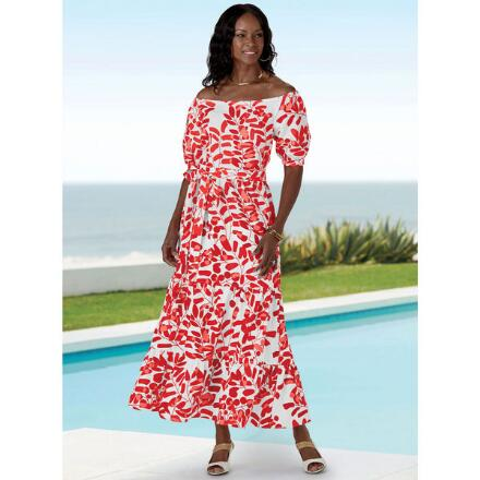 Lengths of Leaves Maxi Dress by Studio EY