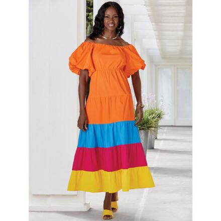Bands of Color Maxi Dress by Studio EY