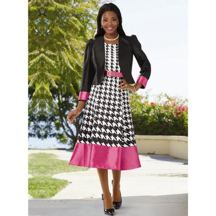 Style Checks In Jacket Dress by EY Boutique