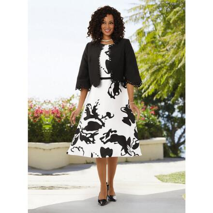 Bold Blooms Jacket Dress by Dorinda Clark-Cole