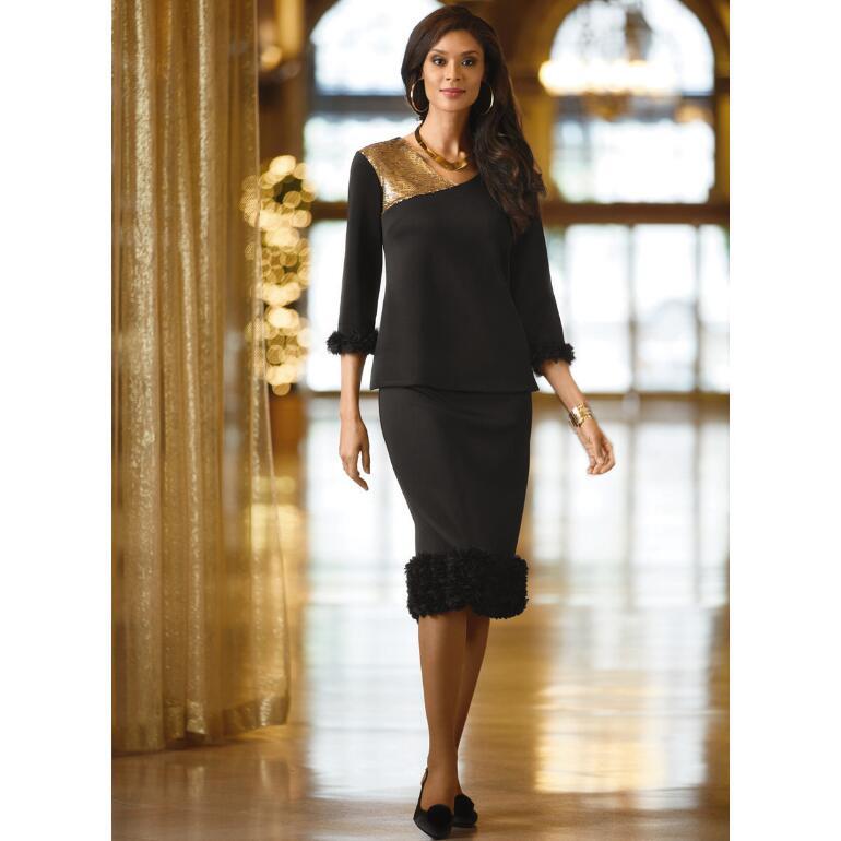 Ruffles 'n' Sequins Skirt Set by Studio EY