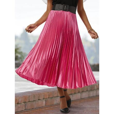 Pleasing Pleats Midi Skirt by Cliche