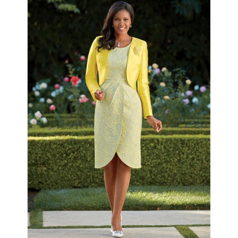 Wrapped-in-Style Jacket Dress by Tally Taylor